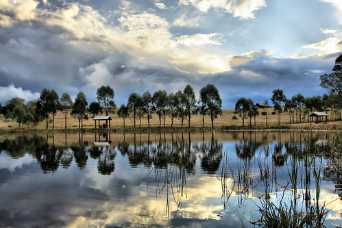 blue trees sun white lake storm reflection green water grass clouds canon tripod sydney australia mario nsw sunrays spacecadet bekes mariobekes