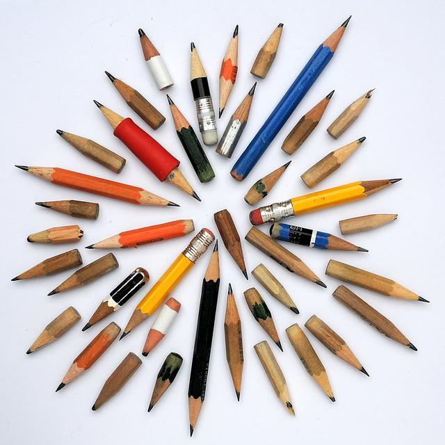 pencil explosion