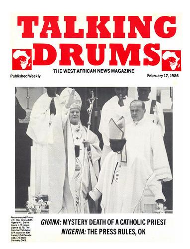 talking drums 1986-02-17 ghana mystery death of a catholic priest - nigeria the press rules ok