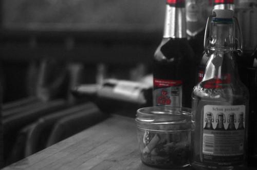 alcohol and cigarretes