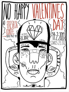 No happy valentines day party poster