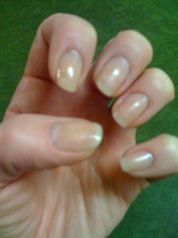 Natural nail acrylic overlay