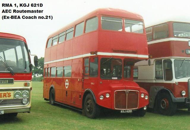 RMA 1, KGJ 621D, AEC Routemaster (1), Park Royal Body H32-24F, 1966