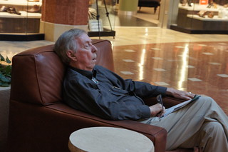 Sleeping Old Man at the Mall | by adamdachis