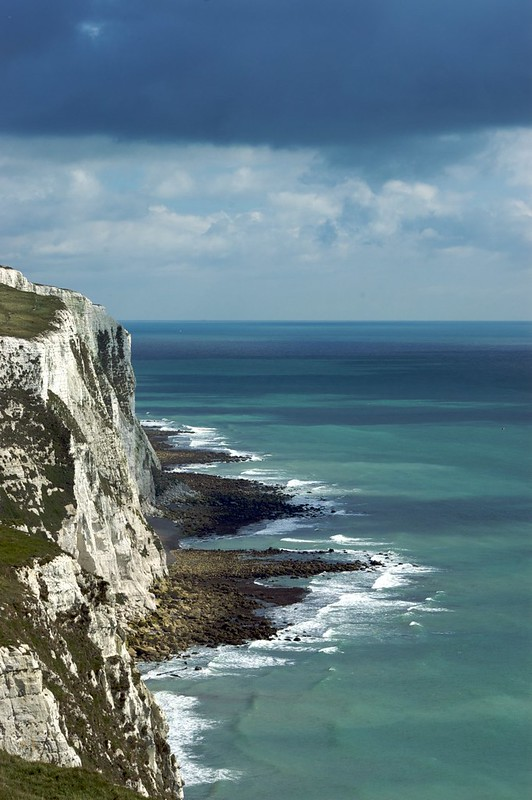 The White Cliffs of Dover in the Sun.