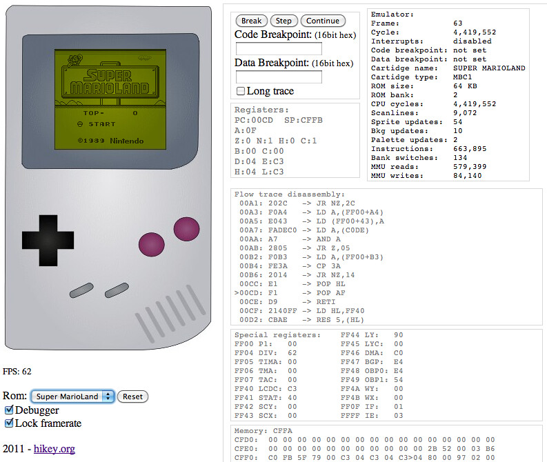 Gameboy emulator in Javascript