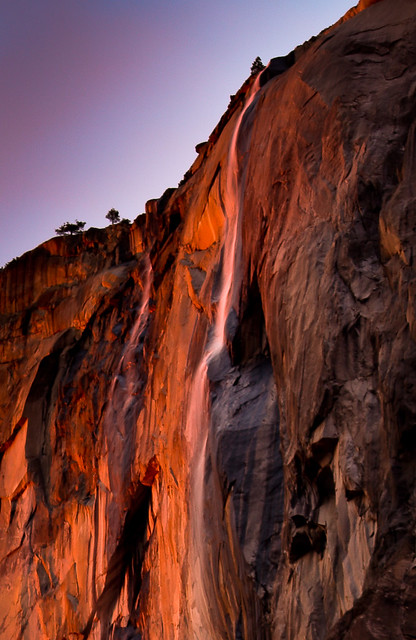 Double Firefall (Horsetail Falls, Yosemite National Park).