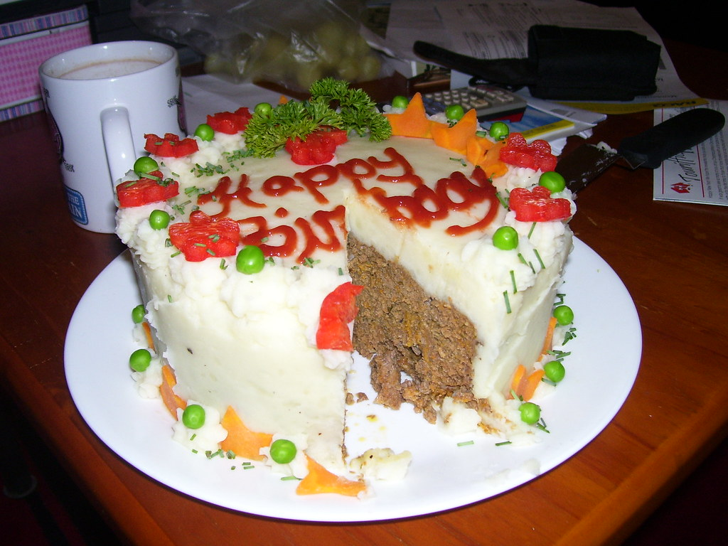 Fantastic Savoury Birthday Cake My Husband Mick Turned 48 This Year Flickr Funny Birthday Cards Online Fluifree Goldxyz