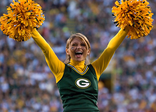 Green Bay Packers Cheerleader   by Mike Morbeck