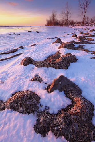 park lake snow water sunrise landscape rocks michigan wideangle filter lee 5d erie 1740mm mkii firstlight metropark giottos gnd canon5dmarkii mt8361