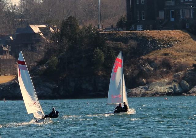 March sailing in Newport Harbor