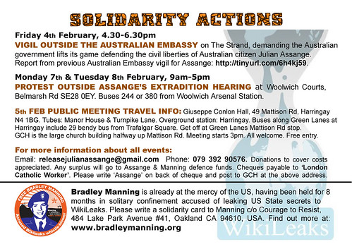 Solidarity with Assange & Manning