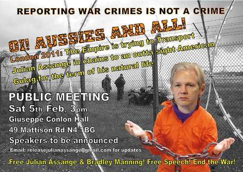Oi! Aussies and All - Public Meeting 5 Feb, London