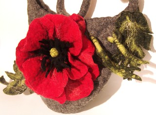 Felted handbag Poppy | by GalaFilc