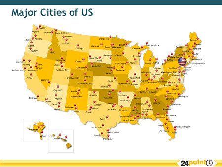 Major Cities of the US | Map Showing the major cities of the… | Flickr