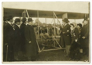 Gustav Schacht prepares to take flight | by Center for Jewish History, NYC