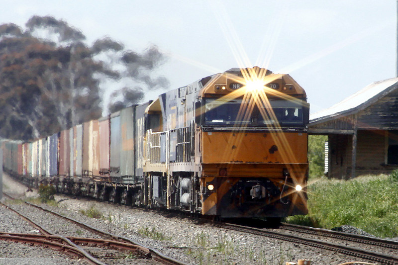 NR70 & NR112 pass through Berrybank with an Adelaide bound freight by Corey Gibson