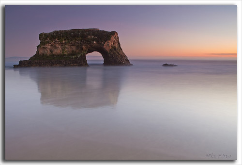 ocean california longexposure bridge sunset sea cliff santacruz reflection history beach nature water night canon seagull historic bayarea bluehour naturalbridges ndfilter 2470mmf28l canoneos5dmarkii mshaw 5dmark2