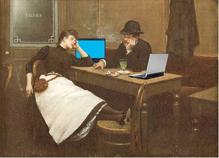 Au Cyber Café, after Jean Béraud | by Mike Licht, NotionsCapital.com