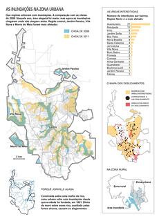 Mapas do estrago em Joinville