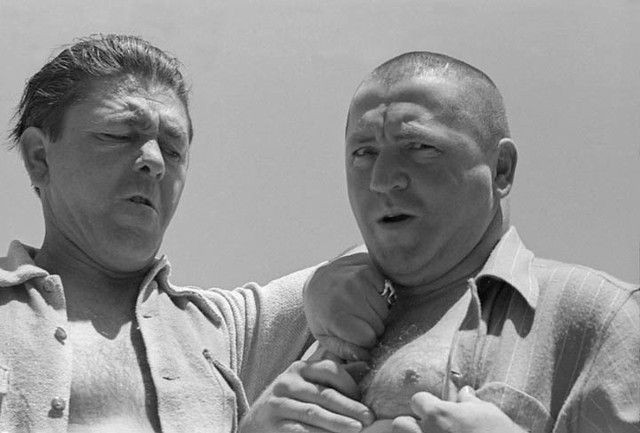 Moe and Curly Howard of the Three Stooges -- 1938