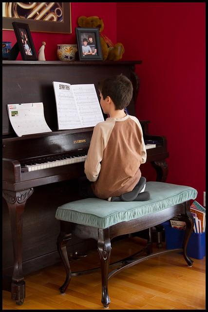 Sam at Piano  Jan 30 2011 1/365