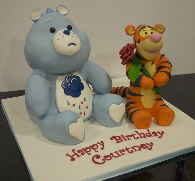 Care Bear and Tigger cake
