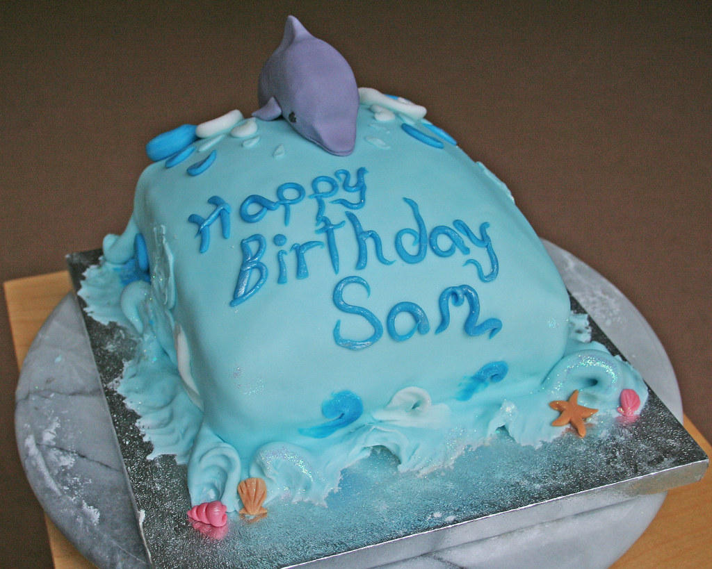 Amazing Dolphin Birthday Cake Front Janet Whitehead Flickr Funny Birthday Cards Online Necthendildamsfinfo