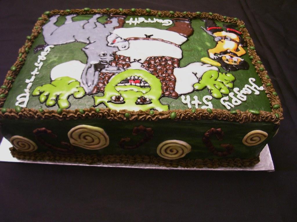 Fabulous Shrek Birthday Cake 1 Doughdoughsbakery Flickr Funny Birthday Cards Online Elaedamsfinfo