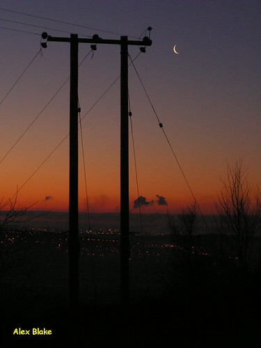 silhouette swansea sunrise telegraphpole mynyddgelliwastad