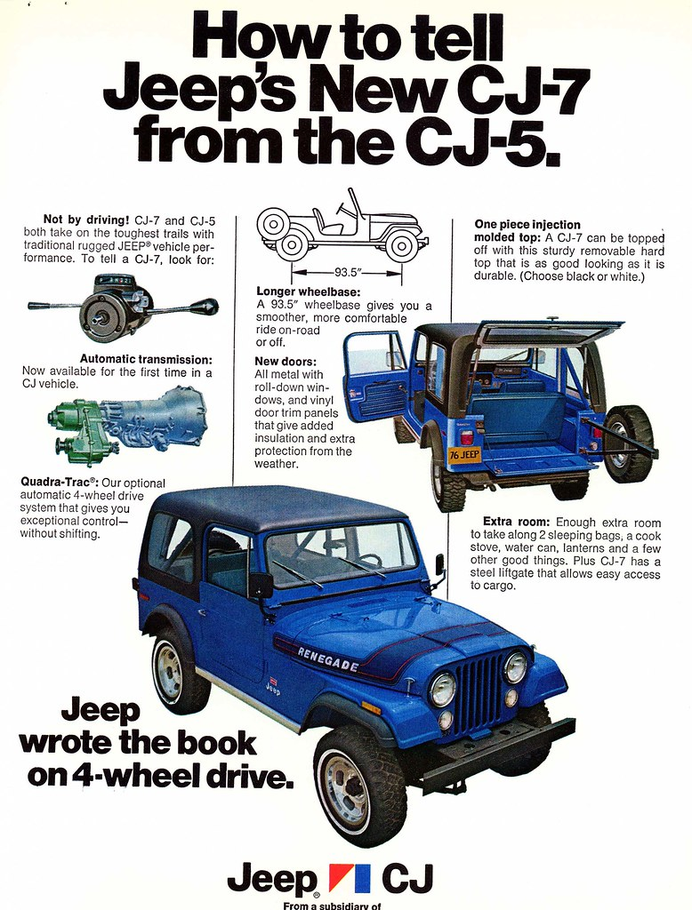1976 Jeep CJ7 vs  CJ5 Identification Ad | How to tell the Je