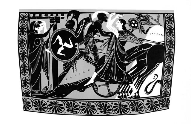-0515: Aquiles arrastra el cadáver de Héctor