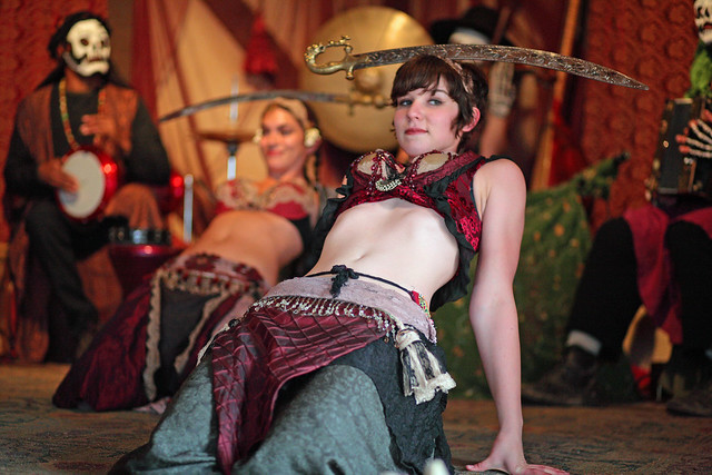 Dancer of Jamila Lotus doing the sword dance