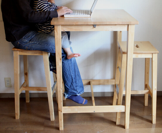 Ikea bar table and stools | ¥5,000 Original price: ¥18,000 T… | Flickr