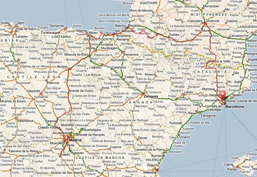 Map Of Spain France And Andorra.Spain Andorra France Driving 946 56 Miles In 6 Days Flickr