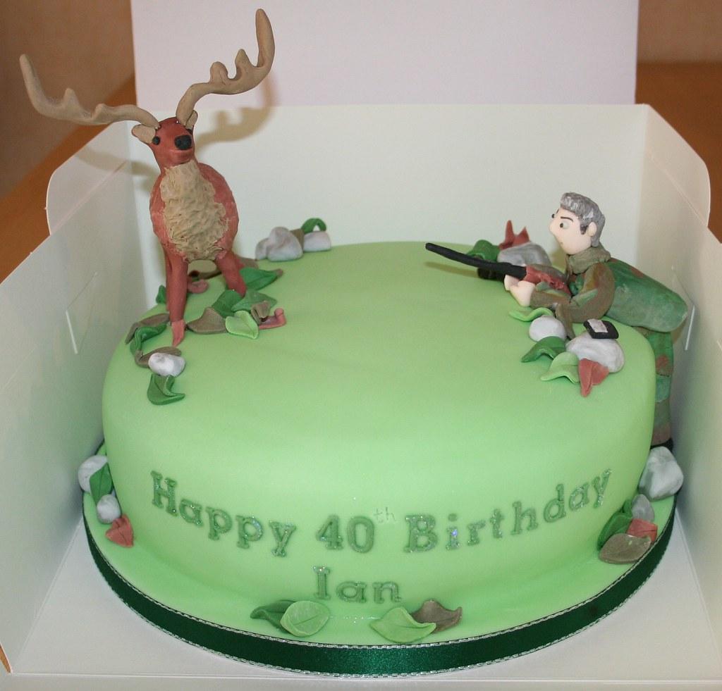 Astounding Deer Hunter Birthday Cake Janet Whitehead Flickr Personalised Birthday Cards Sponlily Jamesorg