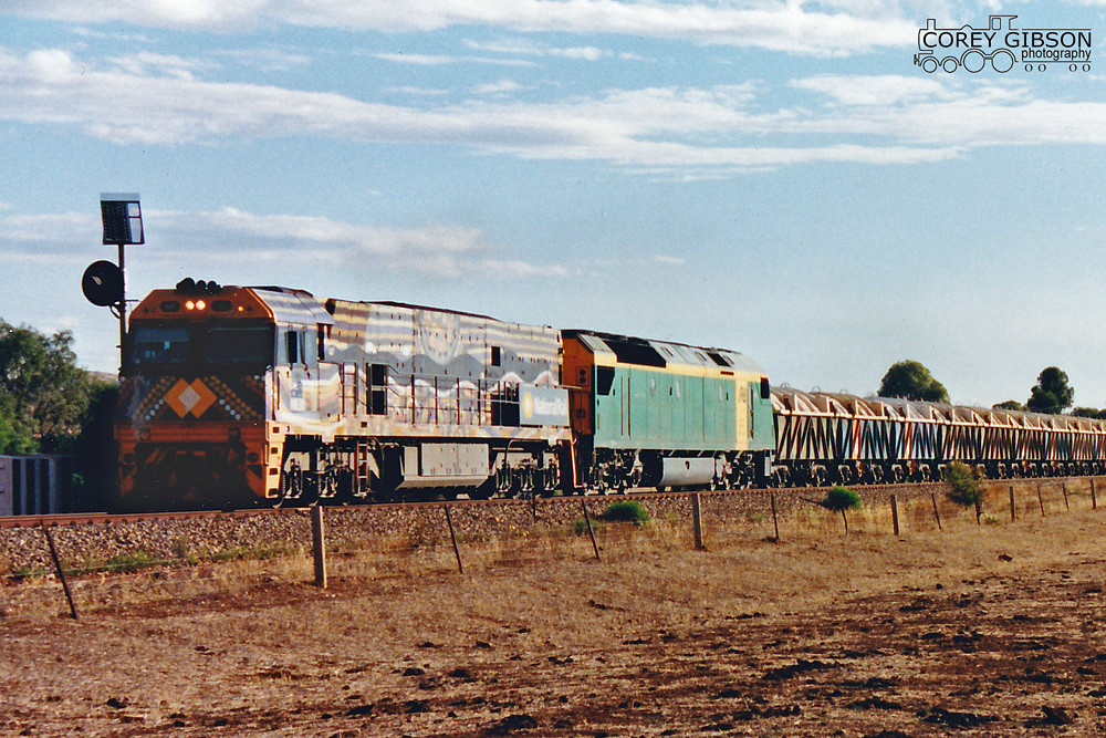 Indigenous liveried NR30 rolls into Gladstone by Corey Gibson