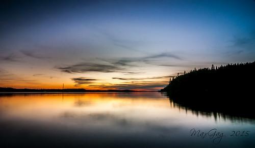 sunset reflection beach living away saintjohn grandbaywestfield