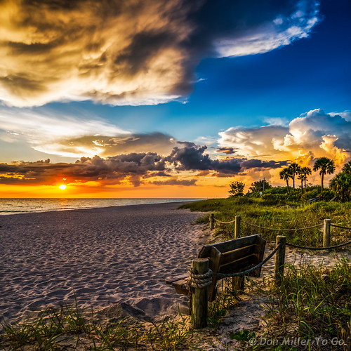 sunset sky bench landscape spring seascapes florida cloudy sunsets beachlife g5 beaches hdr goldenhour onawalk blindpass 3xp hdrphotography beachphotography hdrpanoramic sunsetmadness sunsetsniper panoimages2