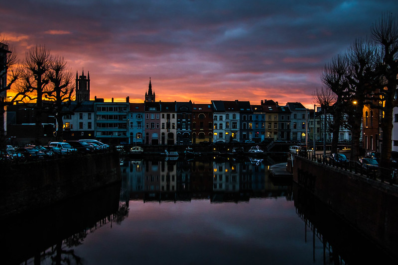 Sunset in Ghent