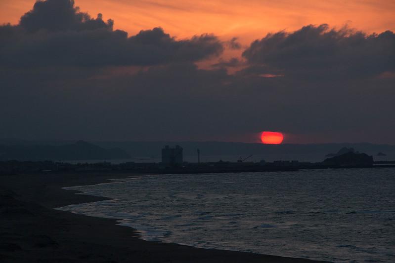 鳥取砂丘の夕日