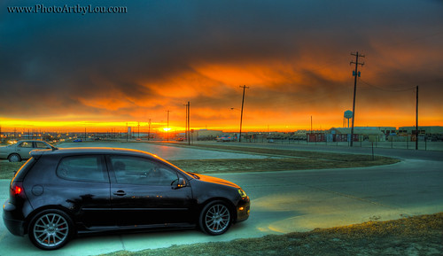 blue orange black vw clouds sunrise nikon magic turbo gti hdr volkwagen 2007 hatchback veedub 2door fthood d7000