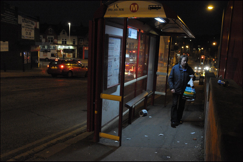 Night time, bus stop (4)