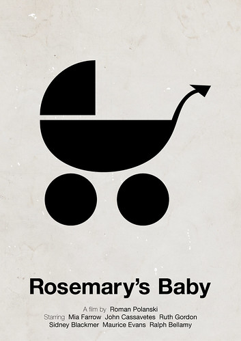 'Rosemary's Baby' pictogram movie poster