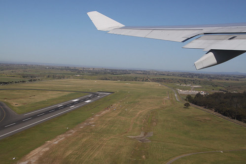 Taking off from Melbourne Airport runway 34