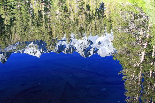 Reflection on Emerald Lake, near Mammoth Lakes, CA