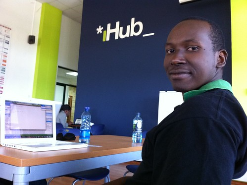 Mworia Wilfred Mutua of Afrinnovator at @iHubNairobi | by inveneo