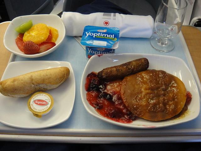 Air Canada Executive Class Breakfast