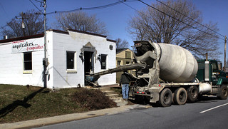 Cupcake batter by the truckload? E. Church St. scene today...nothing exciting, but it just seemed funny to me | by quigley_brown (Jim Hamann)