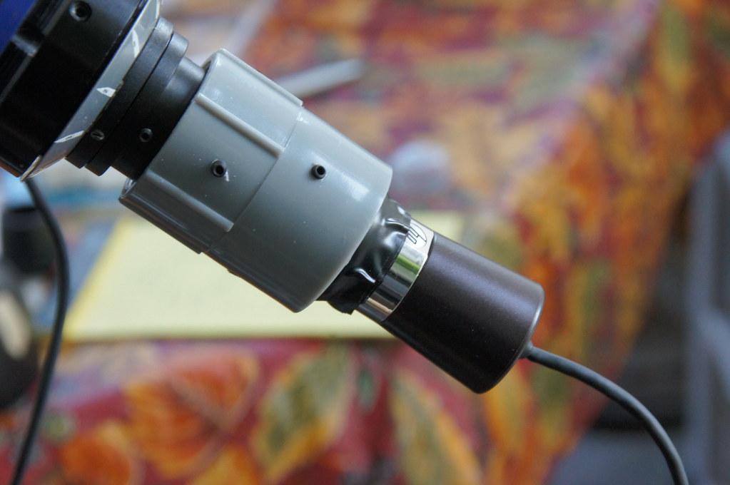 Putting HP HD Webcam on Atlas Polarscope | The HP-4110 HD we